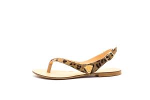 Sandalia basic pelo leopardo